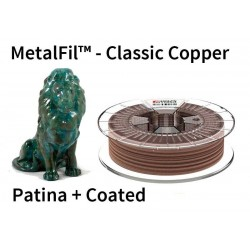 1,75 mm, MetalFil Copper, filaments FormFutura, 0,75kg